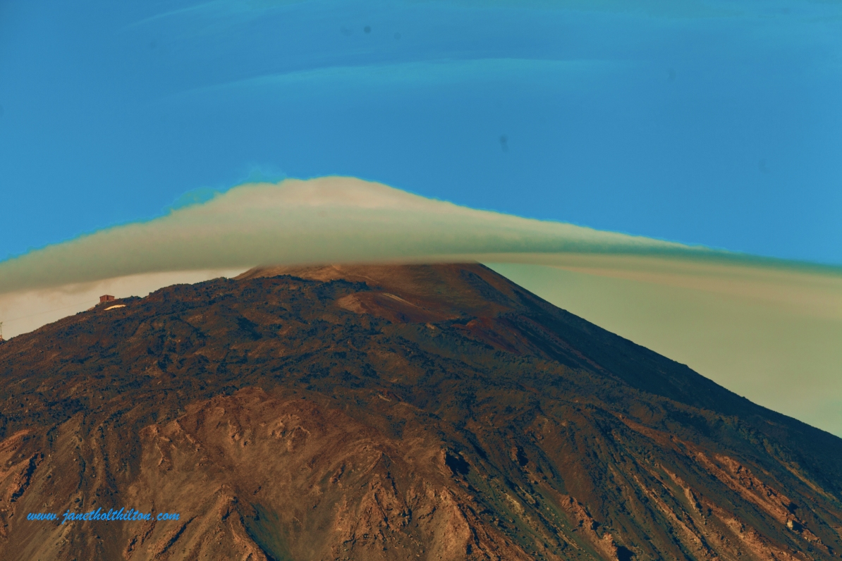 Clouds caress Mt. Teide